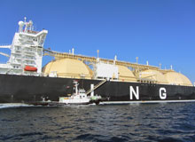 Boarding LNG carrier