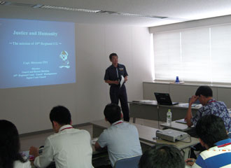 Lecture by director of Guard & Rescue Dept