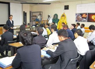 Classroom lecture with AJOC&JICA participants