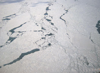 Observation of drift ice from the aircraft
