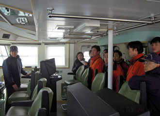 Observation of the patrol boat