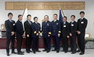 Courtesy call on the Commander